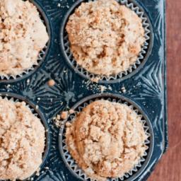 Pear Nutmeg Streusel Muffins