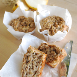 Pear Oat Muffins