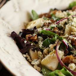 Pear, Walnut and Bleu Cheese Salad with Maple Dijon Dressing from Nordstrom