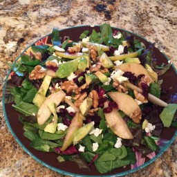 Pear, Walnut, Cranberry, Avocado & Goat Cheese Salad (MIke)