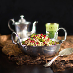 Pearl Barley, Pomegranate, Pistachio and Herb Salad