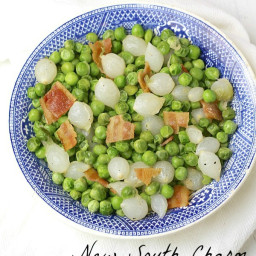Peas and Bacon with Pearl Onions