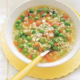 Peas and Carrots Alphabet Soup