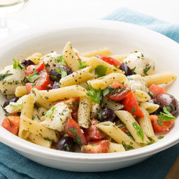 Penne with Baby Mozzarella, Tomatoes, and Herbs