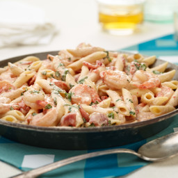 Penne with Shrimp and Herbed Cream Sauce