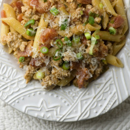 Penne with Tomato Veal Sauce