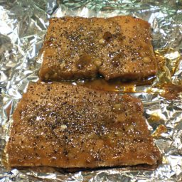 Pepper Crusted Maple Glazed Salmon
