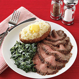 Pepper-Crusted Flank Steak