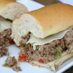 Pepper Jack and Cream Cheesesteak Sandwiches (With Beef)