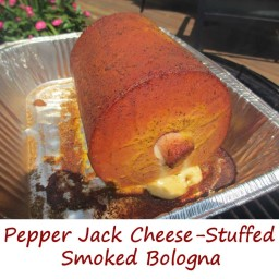 Pepper Jack Cheese-Stuffed Smoked Bologna