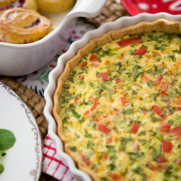 Pepper jack quiche