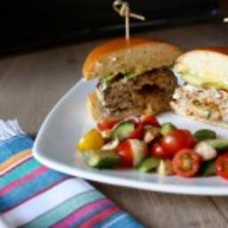 Pepper Jack Stuffed Green Chile Turkey Burger
