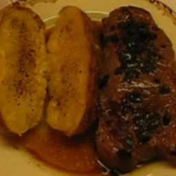 Peppercorn Steak with Bourbon Sauce