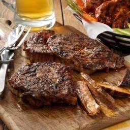 Peppered Ribeye Steaks Recipe
