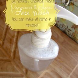 Peppermint & lemon face wash