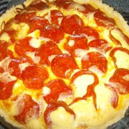 Pepperoni quiche