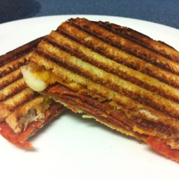 Pepperoni Panini Sandwich
