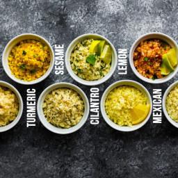Perfect Cauliflower Rice (+ 7 Flavors!)