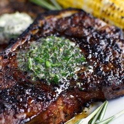 Perfect Grilled Steak with Herb Butter