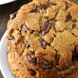 Perfect Paleo Chocolate Chip Cookies (vegan option, grain-free, gluten-free