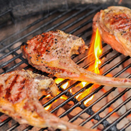 Perfectly Grilled Lamb Rib or Loin Chops