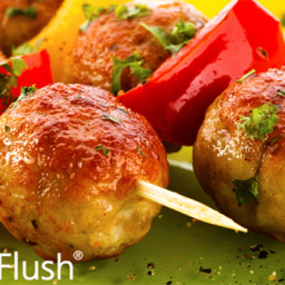 Persian Meatball and Vegetable Skewers
