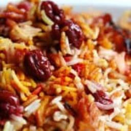 Persian Sour Cherry Saffron Rice