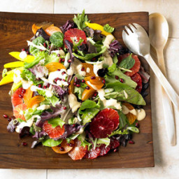 Persimmon, Blood Orange, and Pomegranate Salad