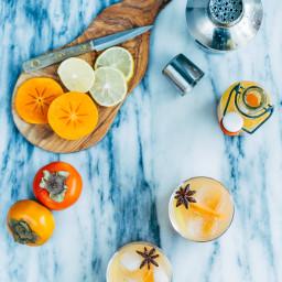 Persimmon Collins Cocktails