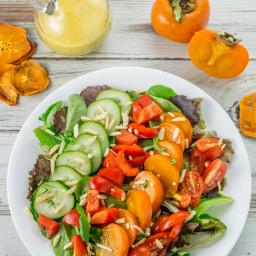 Persimmon Salad with Persimmon Vinaigrette