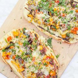 Personal Pesto & Veggie Naan Pizza