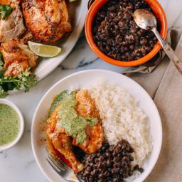 Peruvian Chicken and Green Sauce