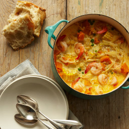 Peruvian Shrimp-and-Corn Chowder