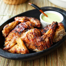 Peruvian-Style Grilled Chicken With Green Sauce Recipe