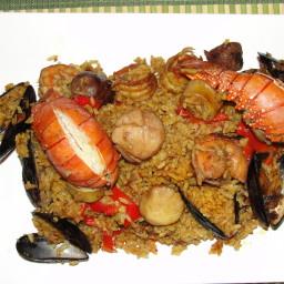 Peruvian Style Seafood Paella