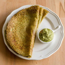 Pesarattu Recipe, Green Moong Dal Dosa / Crepe