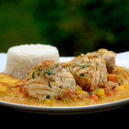 Pescado encocado or fish with coconut sauce