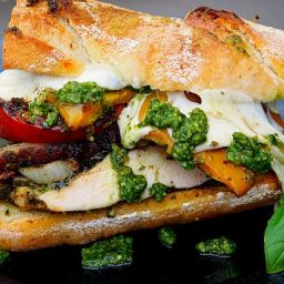 Pesto Chicken and Vege Sandwich