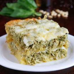 Pesto Chicken Breakfast Casserole