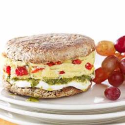 Pesto, Mozzarella and Egg Breakfast Sandwich