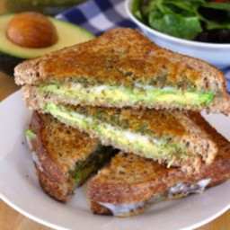 Pesto, Provolone, and Avocado Grilled Cheese