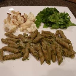 Pesto Pasta w/Roasted Cauliflower