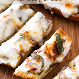 Philly Cheese Steak Cheesy Bread