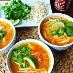 Phony Pho Chicken Broth Bowls