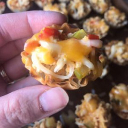 Phyllo Cheeseburger Cups