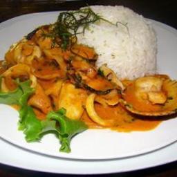 Picante De Mariscos (Peruvian Spicy Stir-Fry)