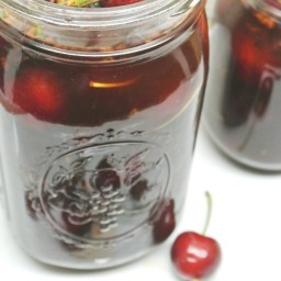 Pickled Cherries with Five Spices #SundaySupper