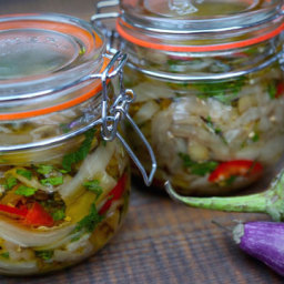 Pickled Eggplant in Olive Oil