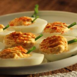 Pickled Jalapeño Deviled Eggs