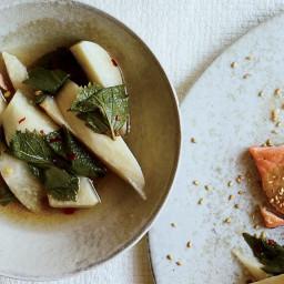 Pickled Jicama and Shiso